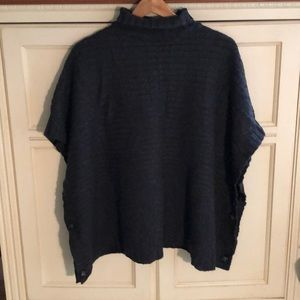 H&M XS Poncho Turtleneck Sweater